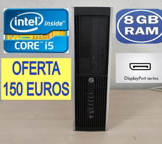 ORDENADOR HP INTEL CORE i5 CON 8 GB RAM 500 GB HDD