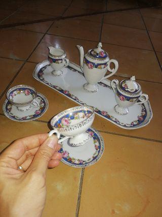 Juego vajilla tetara porcelana sajonia
