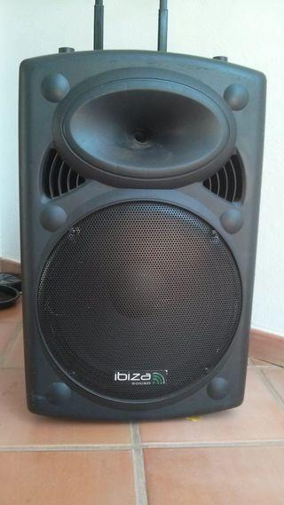 """Altavoz con batería Ibiza sound 15"""""""