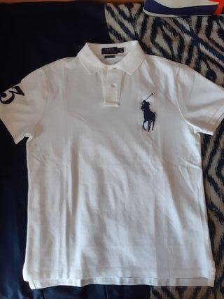 Polo Ralph Lauren (custom slim fit) talla M blanco