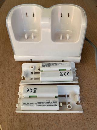 Cargador doble mandos Wii+ Batería Recargable.
