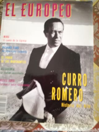 Revista antigua sobre Curro Romero