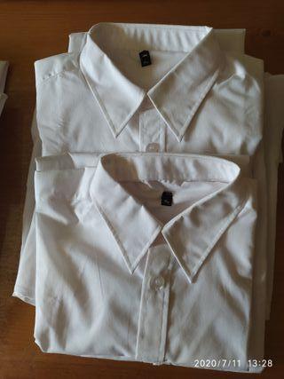 camisas blanca manga larga