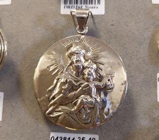 Medalla Virgen plata ley 925