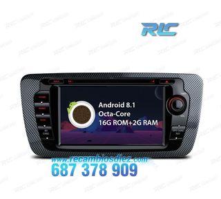 RADIO DVD GPS ANDROID 8.1 SEAT IBIZA MK4 6J LCD TÁ