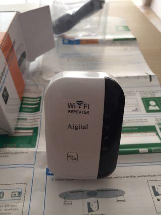 Repetidor wifi + cable de red