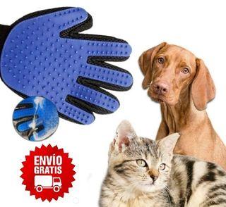 Guante quitapelo y masajeador mascotas perro gato