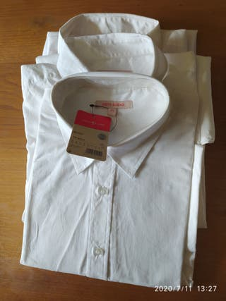 camisas blancas de chico joven. manga. larga
