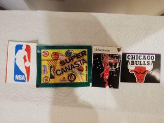 Cromos NBA,años 80, Michael Jordan. Súper canasta