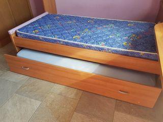 cama nido de 90 con colchones