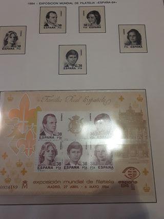 colección sellos de España del 78 al 86