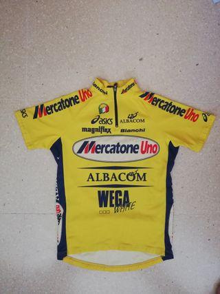 Maillot Mercatone Uno firmado por Marco Pantani