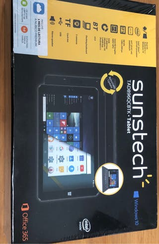 "Tablet Sunstech 8,9"" 32Gb Windows 10 con Teclado"