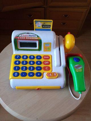 Caja registradora de juguete.