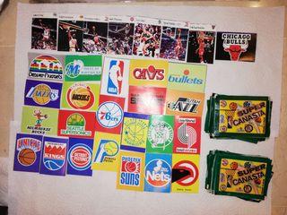Lote cromos NBA, años 80 Supercanara