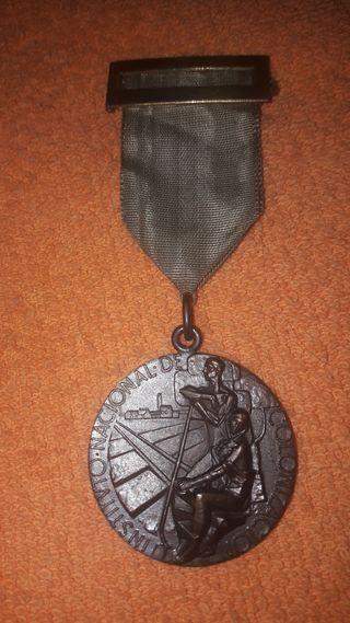 Medalla de bronce del Instituto Nacional de Coloni
