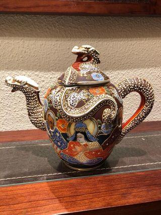Tetera porcelana chino