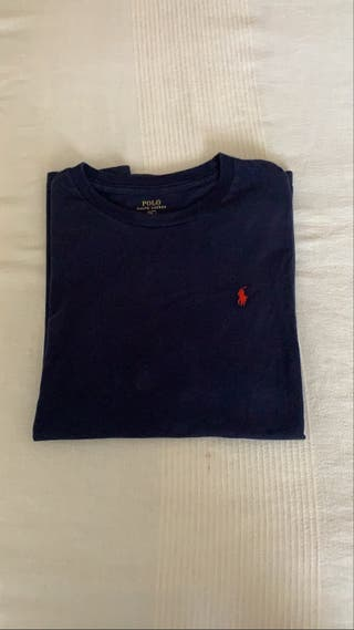 Camiseta polo ralph lauren azul marina, talla XL