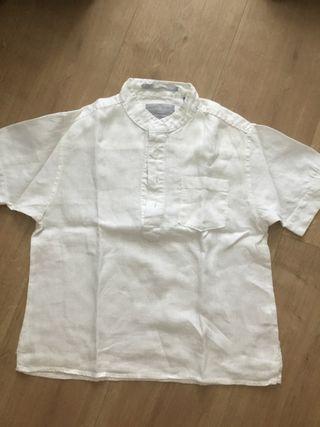 Camisa blanca de lino