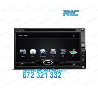 """RADIO NAVEGADOR 2DIN GPS 7"""" HD TÁCTIL BLUETOOTH US"""