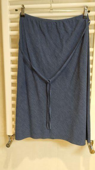 Falda azul H&MTalla:38-40.como nueva.Ropa mujer.
