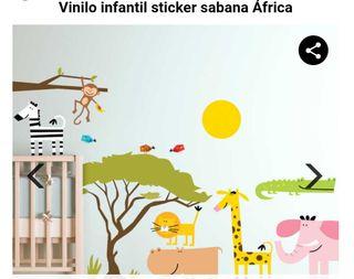 vinilo infantil sabana África