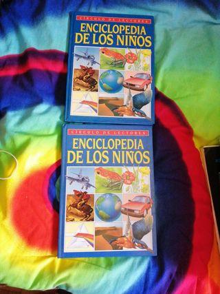 2 libros círculos lectores enciclopedia niños