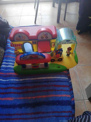 area de servicio garaje chicco para niños juguetes