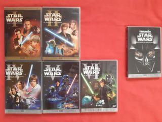 star wars dvd 1,2,4,5,6