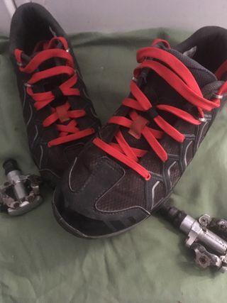 Zapatillas Shimano + pedales calas y clips