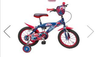 Bicicleta niño Spiderman 14 pulgadas