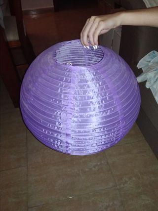 lámpara globo color lila
