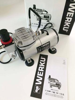 Mini Compresor Aerografía WERKU