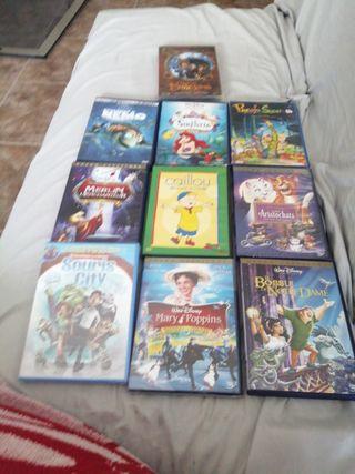 10 DVDs de películas infantiles en francés
