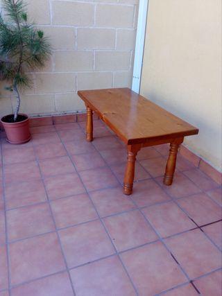 Mesa baja madera auténtica