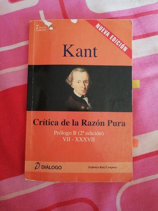 Libro Kant Crítica de la Razón Pura.