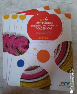 Libro de matemáticas 4°ESO