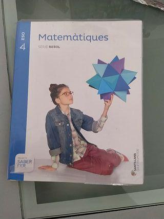 libro de matemáticas 4de la eso