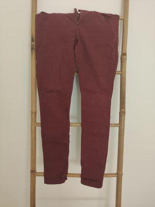 Pantalones Pitillo Granates