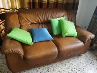 Conjunto de sofás de piel