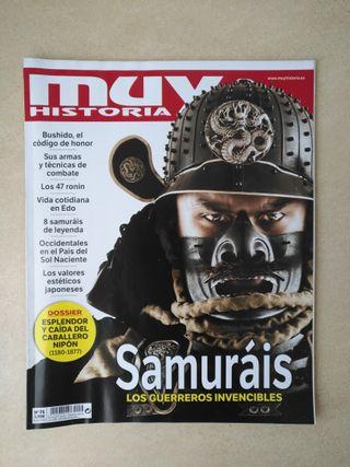 Revista Muy Historia dedicada a los samurais
