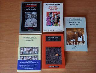 Cinco libros editorial Anagrama