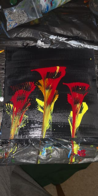 Fire flower painting