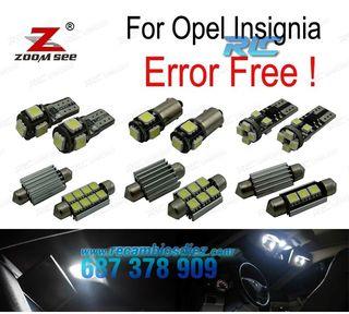 KIT COMPLETO DE 12 BOMBILLAS LED INTERIOR OPEL INS