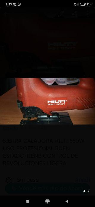 sierra de calar hilti 650w
