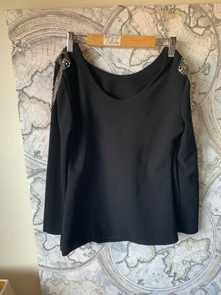 Camiseta de vestir negra