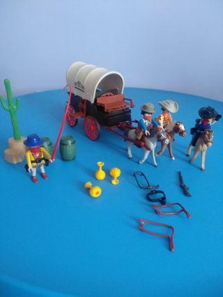 carreta del oeste con bandidos