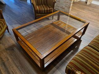 Mesa de centro de teca