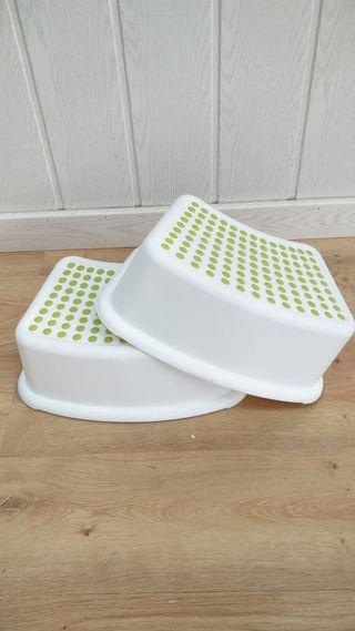 Escalón blanco y verde (2 unidades)