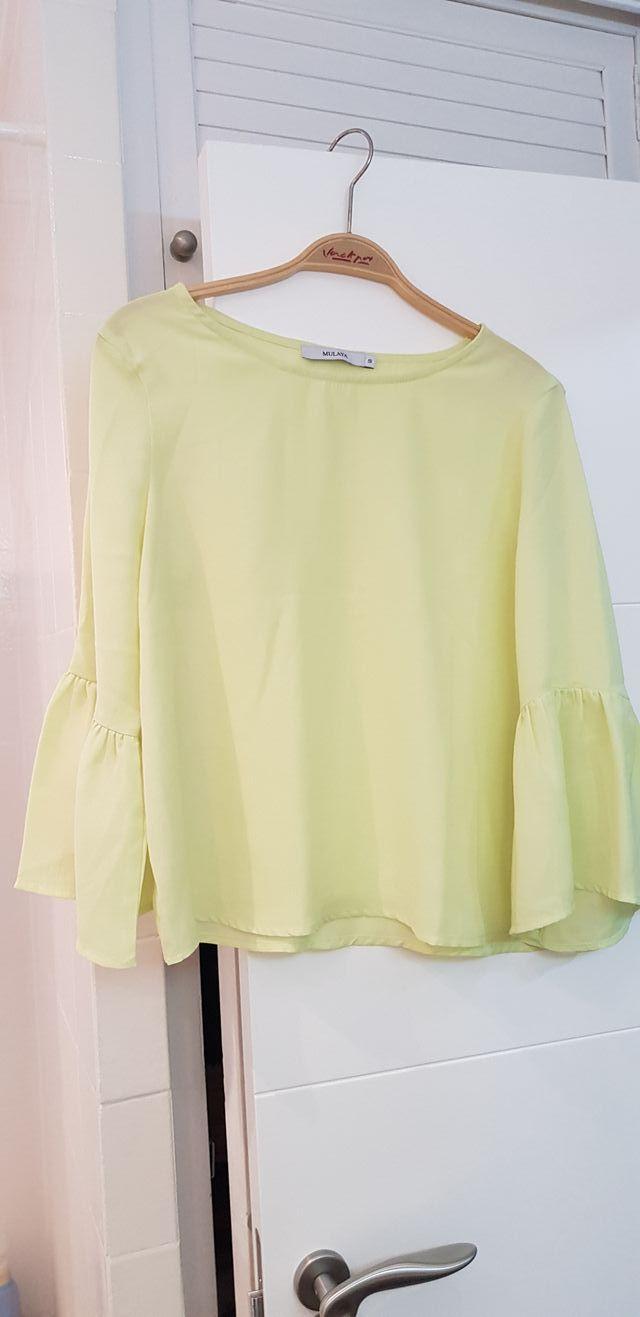 blusa verano verde pistacho.